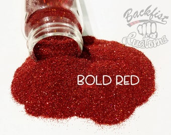 BOLD RED || Opaque Fine Glitter, Solvent Resistant