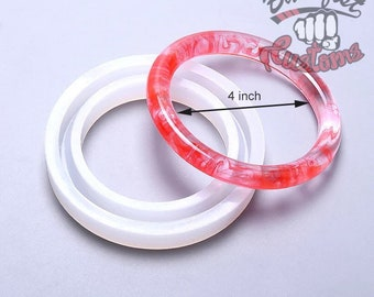 4 inch diameter BRACELET for Keychain LARGE size mold    1 Silicone mold
