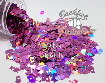 PINK LATTE || Coffee Cup Shaped Glitter
