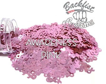 AWARENESS PINK    BFC Exclusive Ribbon Shaped Glitter