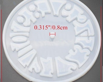 LARGE NUMBER CLOCK mold || 1 Silicone mold with clock hardware