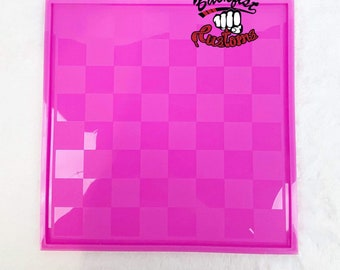CHECKERS / CHESS BOARD 11in x 11in