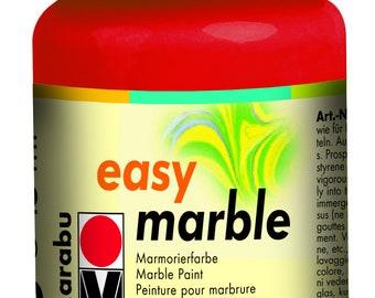 Cherry Red || MARABU Easy MARBLE PAINT