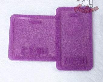CUSTOM LAB Medical Badge Backing 3in x 3in, 2.25in x 4.25in