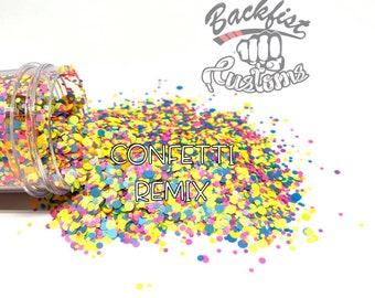 CONFETTI REMIX DOTS    Multi Shaped Neon Glitter confetti