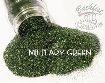 MILITARY GREEN  || Opaque Fine Glitter, Solvent Resistant