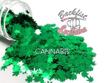 CANNABIS     BFC Exclusive Marijuana Shaped Glitter