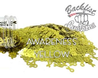 AWARENESS YELLOW || BFC Exclusive Ribbon Shaped Glitter