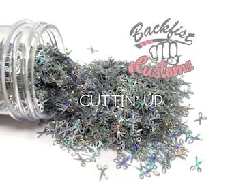 CUTTIN UP || SCISSOR Shaped Glitter, Solvent Resistant