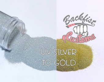UV Silver to Gold || UV Activated Glitter changes from Silver to Gold
