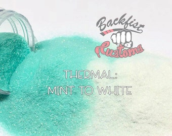 THERMAL MINT To WHITE || Heat Activated Glitter changes from Mint to Colorless