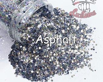 Asphalt  ||  Glitter, Solvent Resistant