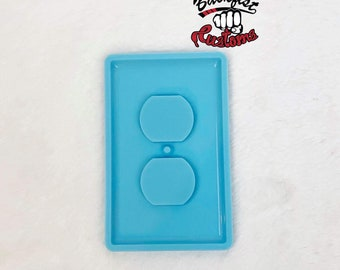 OUTLET COVER 4.75in x 3in Mold || 1 Silicone mold