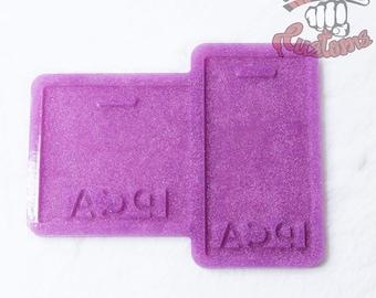 CUSTOM PCA Medical Badge Backing 3in x 3in, 2.25in x 4.25in