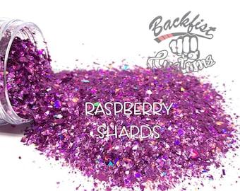 RASPBERRY SHARDS     Chunky Mix Holographic Broken Shards of Glitter