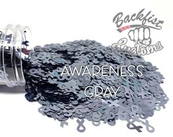 AWARENESS GRAY || BFC Exclusive Ribbon Shaped Glitter