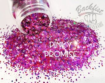 PINKY PROMISE || Opaque Chunky Mix, Solvent Resistant