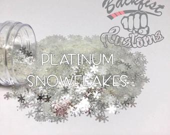 PLATINUM SNOWFLAKES ||  Snowflake Shaped Glitter