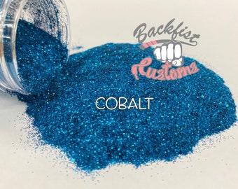 COBALT  || Opaque Fine Glitter, Solvent Resistant
