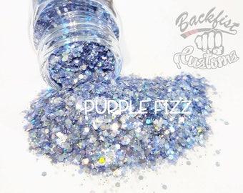 PURPLE FIZZ || Transparent Chunky Glitter Mix, Solvent Resistant