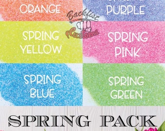 SPRING Themed Glitter Package 6oz total ( 1oz of each color )
