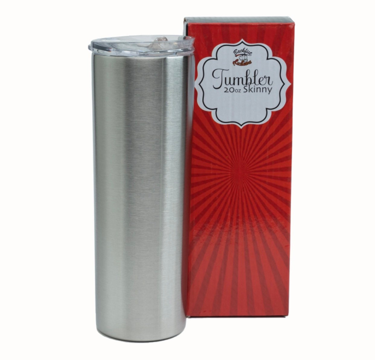 20oz Skinny Stainless Steel TUMBLER || Comes with a straw