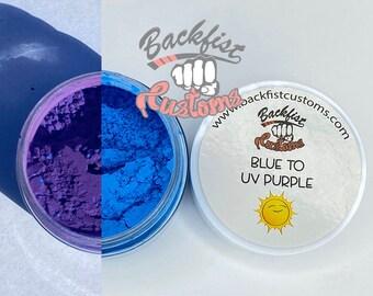 UV Pigment BLUE to PURPLE || 10g jar