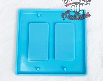 DOUBLE RECTANGLE LIGHT Switch Cover 5in x 4.75in Mold    1 Silicone mold