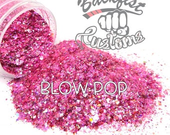 BLOW POP ||  Pink Chunky Opaque