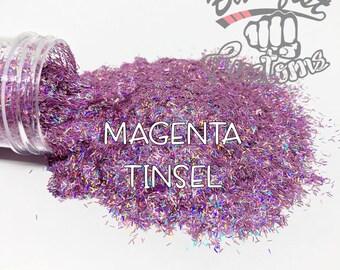MAGENTA TINSEL    Tinsel Glitter, Solvent Resistant
