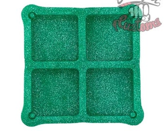 Custom NFC Tag Square Keychain Mold 4 in 1 || 1.75in