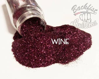 WINE || Opaque Fine Glitter, Solvent Resistant