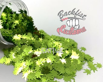 SATIVA  || BFC Exclusive Marijuana Shaped Glitter