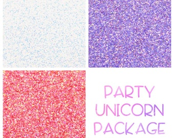 Party Unicorn Themed Glitter Package