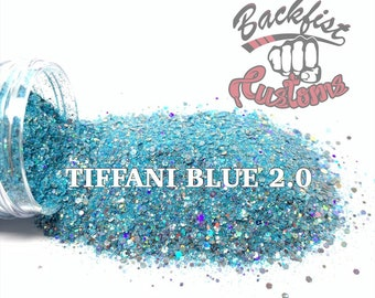 TIFFANI BLUE 2.0  || Exclusive Chunky Glitter, Solvent Resistant
