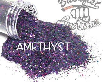 AMETHYST || Chunky Mix  Glitter, Solvent Resistant