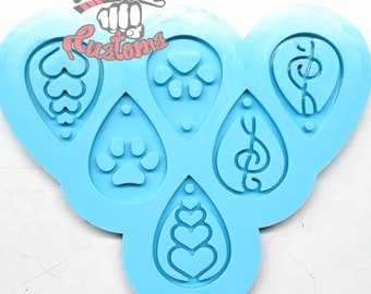 SMALL EARRING PALETTE mold    1  Silicone mold