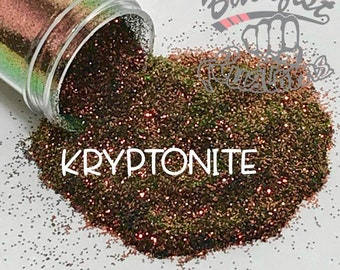 KRYPTONITE ( red )  || Solvent Resistant, Color Shift Glitter