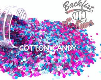 COTTON CANDY DOTS    Multi Shaped  Glitter Dots