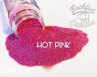 HOT PINK     Transparent Fine Glitter, Solvent Resistant