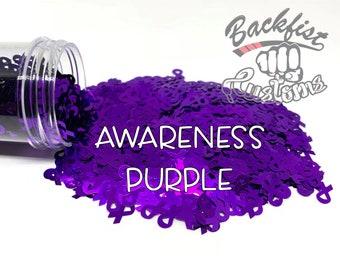 AWARENESS PURPLE || BFC Exclusive Ribbon Shaped Glitter