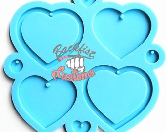 HEART PALETTE mold    1  Silicone mold