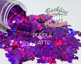 PURPLE LATTE    Coffee Cup Shaped Glitter