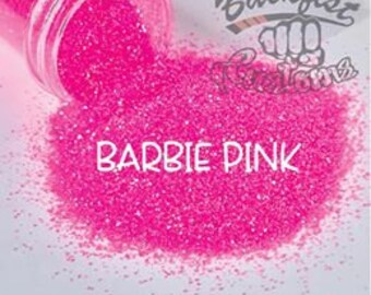 BARBIE PINK || Neon, Transparent Fine Glitter, Solvent Resistant