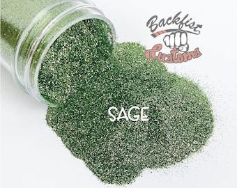 SAGE  || Opaque Fine Glitter, Solvent Resistant