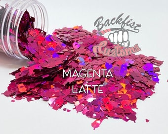 MAGENTA LATTE    Coffee Cup Shaped Glitter