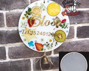 BIG CIRCLE DOOR Sign Mold 8.8in || 1 Silicone mold