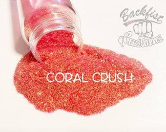 CORAL CRUSH    Transparent Fine Glitter, Solvent Resistant