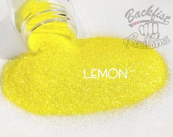 LEMON  || Transparent Fine Glitter, Solvent Resistant
