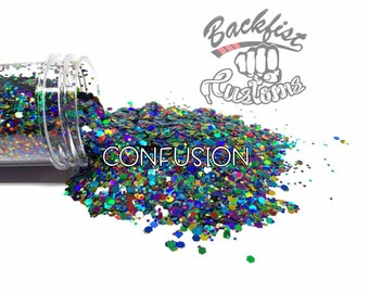 CONFUSION || Chunky Glitter, Solvent Resistant